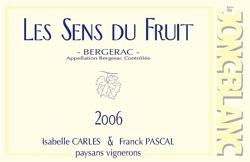 Etiquette Les Sens du Fruit 2006