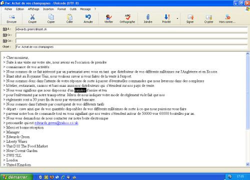 Email frauduleux