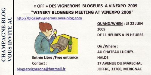 Entree vignerons bloggeurs